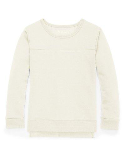 Hanes Girls' High-Low Sweatshirt Winter White XS
