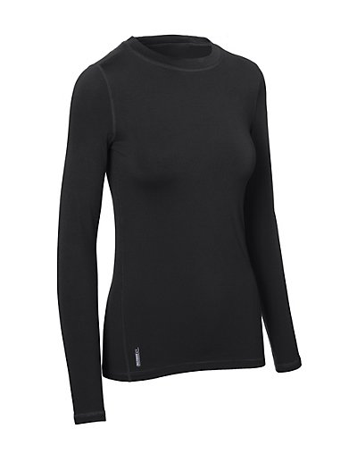 Duofold Varitherm Women's Flex Weight Baselayer Crew Black XL