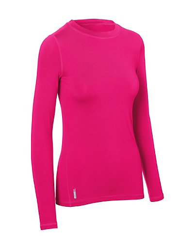 Duofold Varitherm Women's Flex Weight Baselayer Crew Pop Art Pink XL