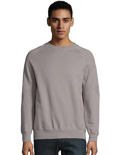 Hanes Men's Nano Premium Lightweight Crewneck Sweatshirt Vintage Gray S