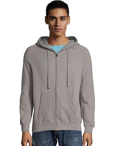 Hanes Men's Nano Premium Lightweight Full Zip Hoodie Vintage Gray S