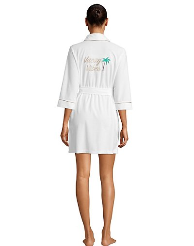 One Hanes Place Pillow Talk Vacay Vibes Robe XL