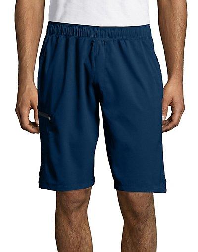 Hanes Sport Men's Hybrid Pocket Shorts Navy L