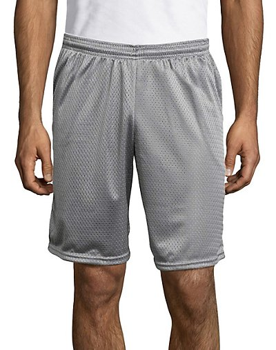 Hanes Sport Men's Mesh Pocket Shorts Athletic Grey XL