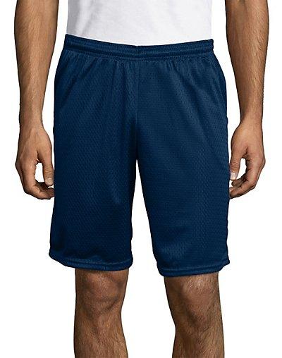 Hanes Sport Men's Mesh Pocket Shorts Navy M