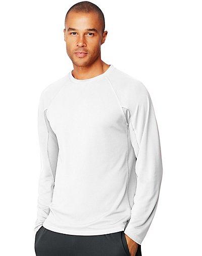 Hanes Sport X-Temp Men's Performance Long-Sleeve Training T-Shirt White M