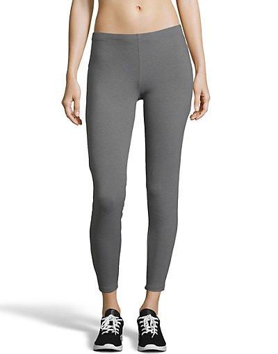 Hanes Women's Stretch Jersey Leggings Charcoal Heather S