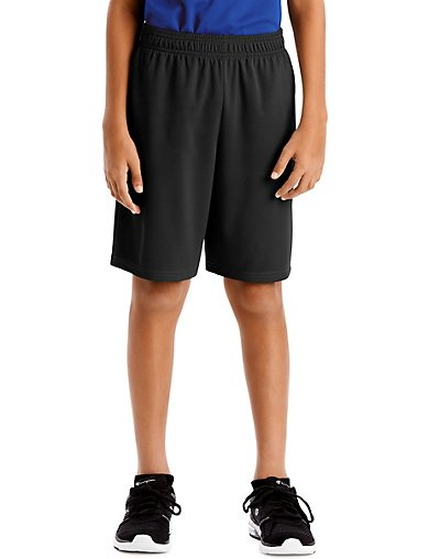 Hanes Sport Boys' 9-inch Performance Shorts with Pockets Black 2XL