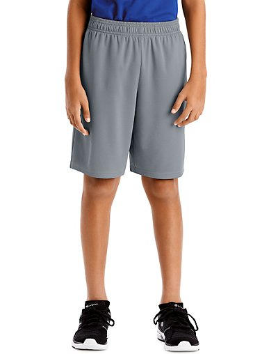 Hanes Sport Boys' 9-inch Performance Shorts with Pockets Concrete XL