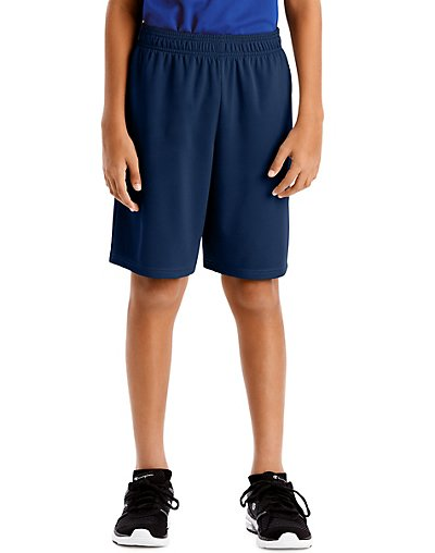 Hanes Sport Boys' 9-inch Performance Shorts with Pockets Navy L