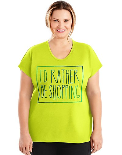 Just My Size Active Dolman...