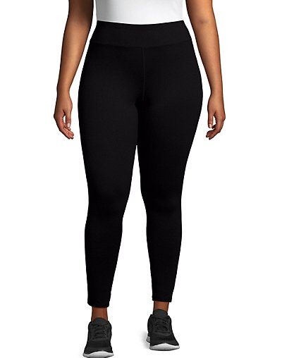 Just My Size Active Full Length Leggings Black 3X