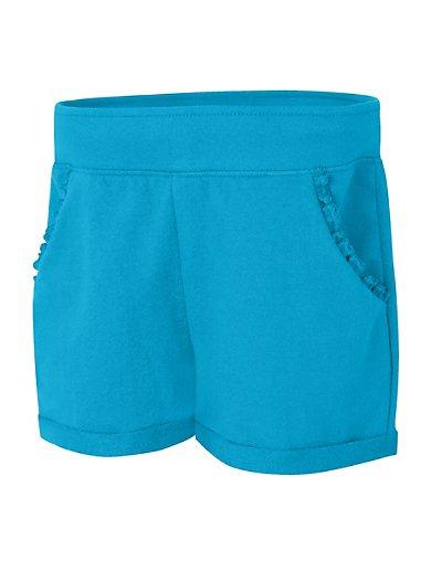 Hanes Girls' Ruffle Pocket Short Process Blue XS