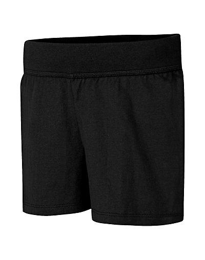 Hanes Girls' Jersey Short Black XS