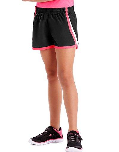 Hanes Sport Girls' Woven Performance Training Shorts Black XS