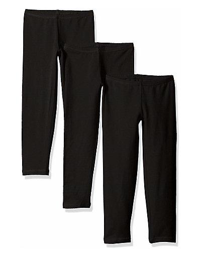 Hanes Girls' Legging 3-Pack Black XS