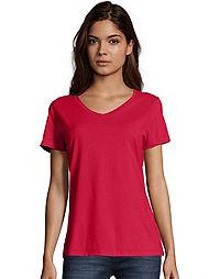 405e74f9 image of Hanes Nano-T® Women's V-Neck T-Shirt 2-