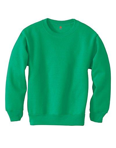 Hanes Youth ComfortBlend EcoSmart Crewneck Sweatshirt Kelly Green XS