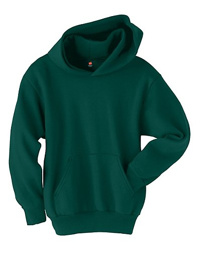 Hanes Youth ComfortBlend EcoSmart Pullover Hoodie Deep Forest XS