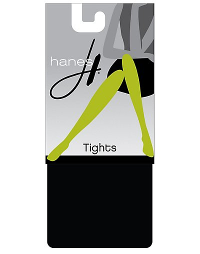 Hanes Seasonless Tights 2-Pack Black/Black M
