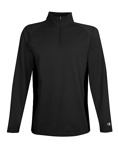 Champion Men's Performance Fleece Quarter Zip Pullover Black/Black 2XL