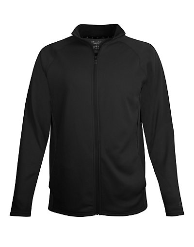 Champion Men's Performance Fleece Full Zip Jacket Black/Black M