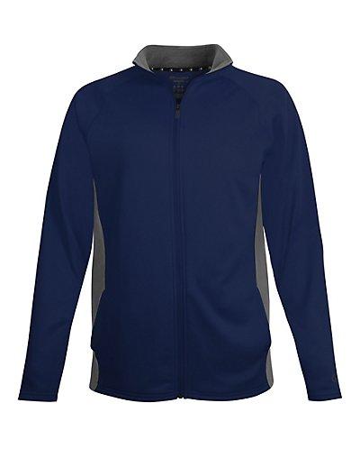 Champion Men's Performance Fleece Full Zip Jacket Navy/Stone Gray S