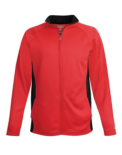 Champion Men's Performance Fleece Full Zip Jacket Scarlet/Black L