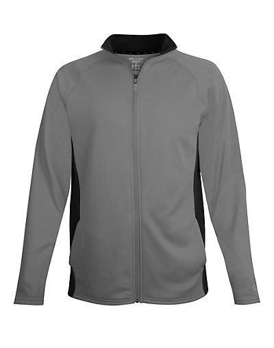 Champion Men's Performance Fleece Full Zip Jacket Stone Gray/Black S