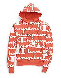 5b47fe53 Champion Life® Men's Reverse Weave® Pullover Hood, All-over Logo