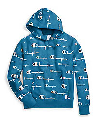 official photos a9d90 21fd0 Champion Life® Men s Reverse Weave® Pullover Hood, All-over Logo