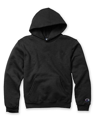 Champion Double Dry Action Fleece Pullover Kids' Hoodie Black S