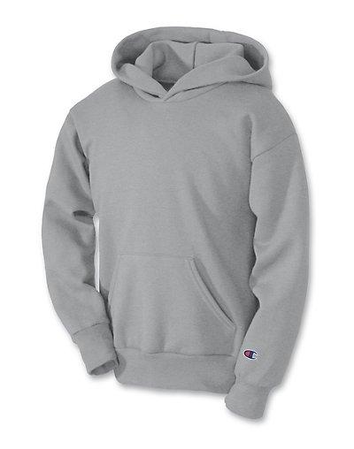 Champion Double Dry Action Fleece Pullover Kids' Hoodie Light Steel S