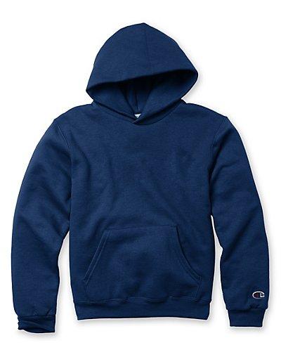 Champion Double Dry Action Fleece Pullover Kids' Hoodie Navy S