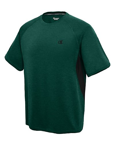 Champion Vapor Men's Heather Tee With Side Vents Forest Grove Heather/Black L