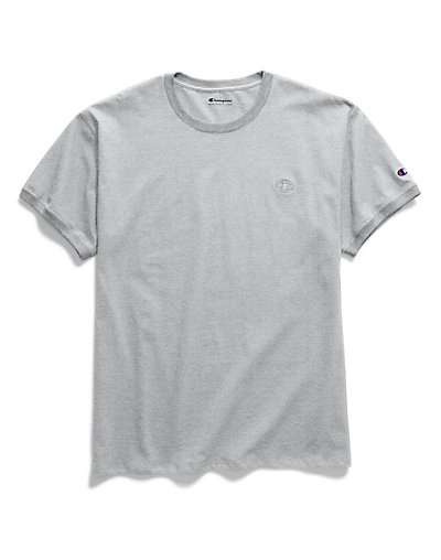 Champion Men's Classic Jersey Ringer Tee Oxford Grey XL