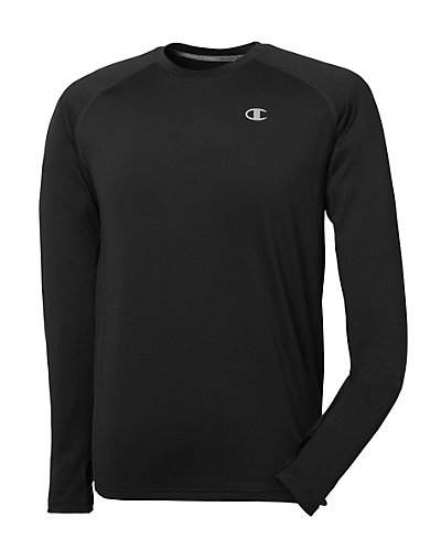 Image of Champion Men's Cold Weather Long-Sleeve Tee Black 2XL