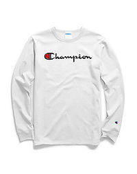 d703ed38 Champion Men's Classic Jersey Long-Sleeve Tee, Script Logo | Champion