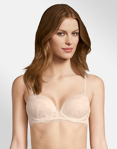 Bras N Things Body Bliss Lace Lightly Lined Underwire Bra - Bridal Blush