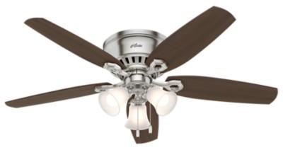 Low profile ceiling fans flush mount hunter fan aloadofball Image collections