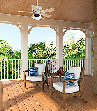 Patio with a Ceiling Fan | Hunter Fan