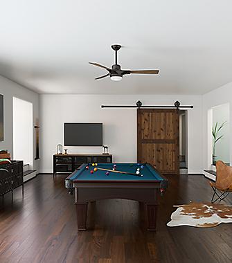 Game Room with a Ceiling Fan | Hunter Fan