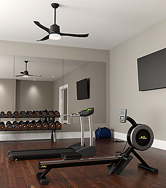 stylish ceiling fans for every room hunter fan company. Black Bedroom Furniture Sets. Home Design Ideas