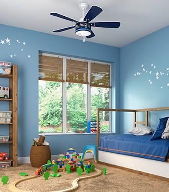 Nice Kids Room With A Ceiling Fan | Hunter Fan