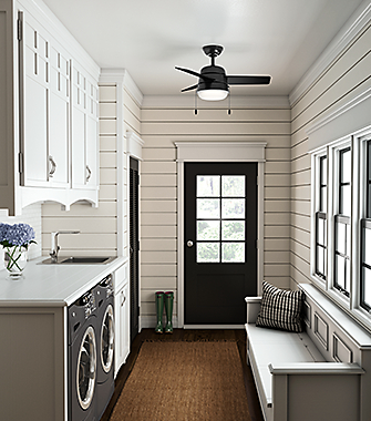 Mud Room with a Ceiling Fan | Hunter Fan