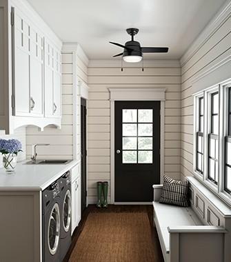 Mud Room With A Ceiling Fan | Hunter Fan