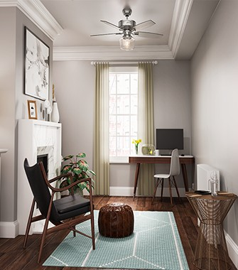 Office With A Ceiling Fan   Hunter Fan