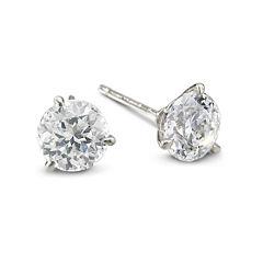 DiamonArt® Sterling Silver 3 CT. T.W. Cubic Zirconia Stud Earrings