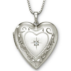 Photo Heart Locket Sterling Silver