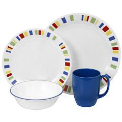 Corelle® Livingware™16-pc. Classic Cafe Blue Dinnerware Set